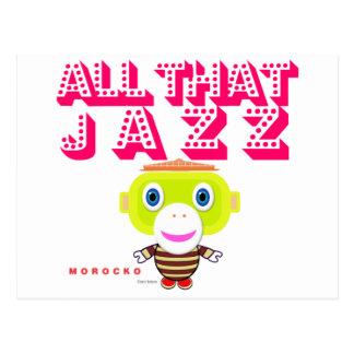 Cartão Postal Todo o que Macaco-Morocko Jazz-Bonito