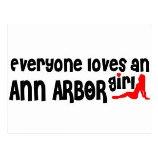 Cartão Postal Todos ama uma menina de Ann Arbor