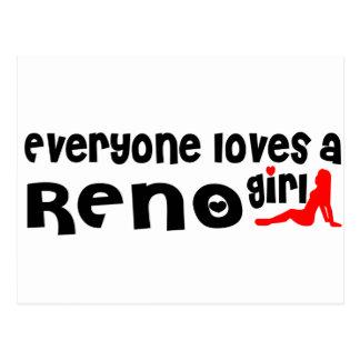 Cartão Postal Todos ama uma menina de Reno