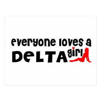 Cartão Postal Todos ama uma menina do delta