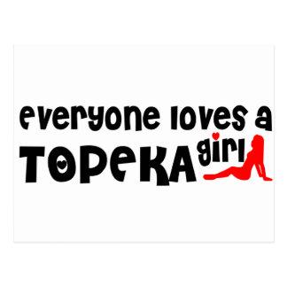Cartão Postal Todos ama uma menina do Topeka