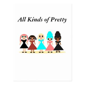 Cartão Postal Todos os tipos de bonito