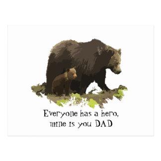Cartão Postal Todos tem um herói, mina é chamado Pai, carrega