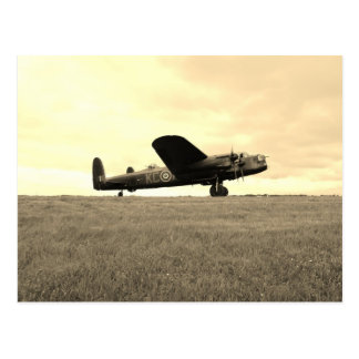 Cartão Postal Tom do Sepia do bombardeiro de Lancaster