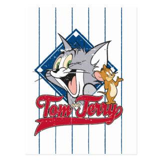 Cartão Postal Tom e Jerry | Tom e Jerry no diamante de basebol