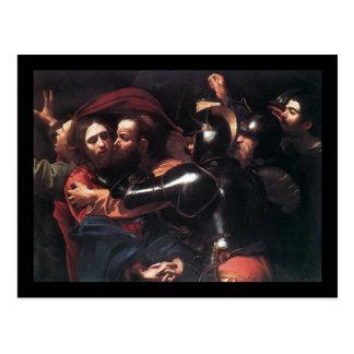Cartão Postal Tomada de Caravaggio do cristo
