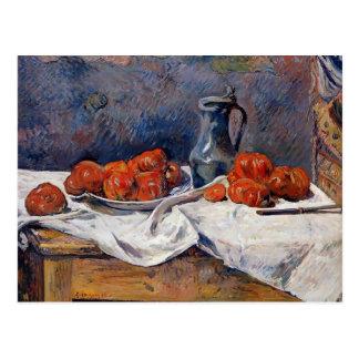 Cartão Postal Tomates de Paul Gauguin- & caneca para cerveja do