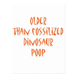 Cartão Postal Tombadilho fossilizado do dinossauro