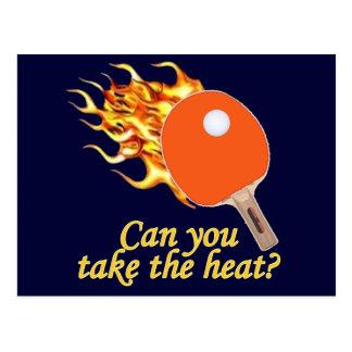 Cartão Postal Tome ao calor sibilo flamejante Pong