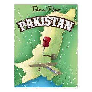 Cartão Postal Tome um poster de viagens plano de Paquistão