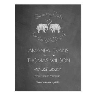 Cartão Postal TONELADAS de economias do quadro do elefante do