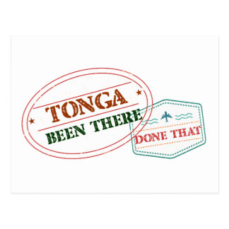Cartão Postal Tonga feito lá isso