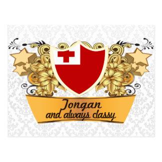 Cartão Postal Tonganês elegante