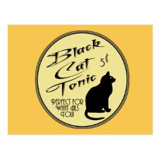 Cartão Postal Tónico do gato preto