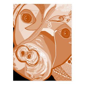 Cartão Postal Tons do Sepia do pitbull