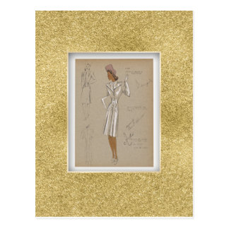 Cartão Postal Topcoat do Reefer vestido sobre o terno de 2