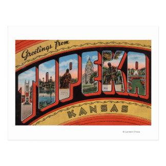 Cartão Postal Topeka, letra ScenesTopeka de KansasLarge, KA