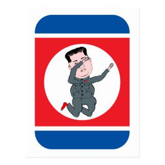 Cartão Postal Toque ligeiro do Un de Kim Jong da Coreia do Norte