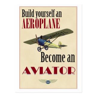 Cartão Postal Torna-se um aviador