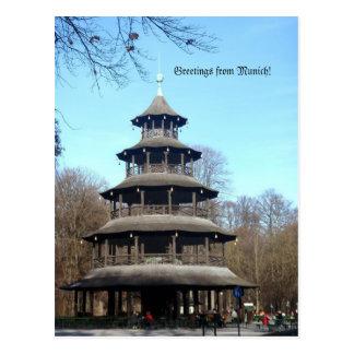 Cartão Postal Torre chinesa (Chinesischer Turm)