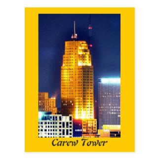 Cartão Postal Torre de Carew, Cincinnati, Ohio, EUA