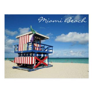 Cartão Postal Torre de guarda de Miami Beach Florida