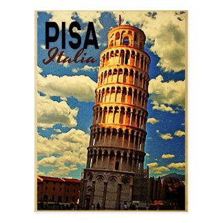 Cartão Postal Torre de Pisa ltaly
