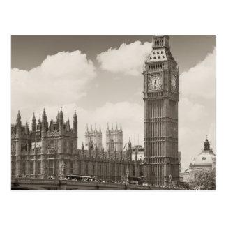 Cartão Postal Torre de pulso de disparo Londres de Big Ben