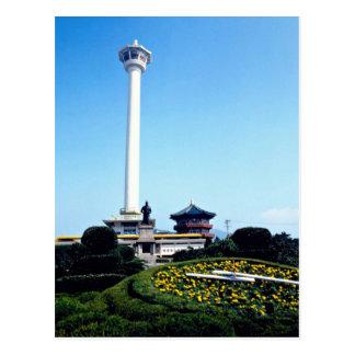 Cartão Postal Torre de Pusan, Pusan, Coreia do Sul