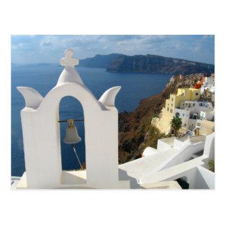 Cartão Postal Torre de Santorini Bell na tarde Sun