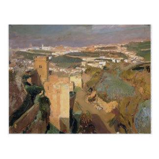 Cartão Postal Torre de sete, pont Alhambra de Joaquín Sorolla-