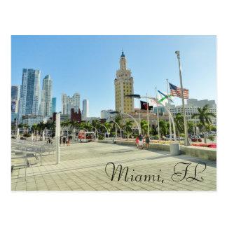 Cartão Postal Torre do centro de Miami/liberdade
