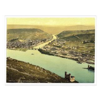 Cartão Postal Torre do rato e Rossel, Bingen, o Rhine, Alemanha