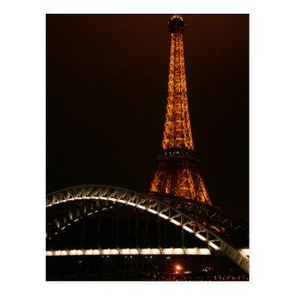 Cartão Postal Torre Eiffel através do Seine