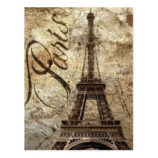 Cartão Postal Torre Eiffel de Paris do vintage