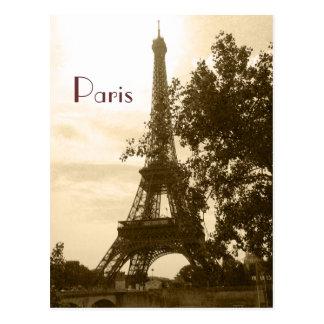 Cartão Postal Torre Eiffel do Sepia--Paris