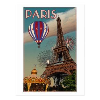Cartão Postal Torre Eiffel do vintage