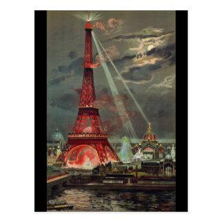 Cartão Postal Torre Eiffel Paris France do vintage