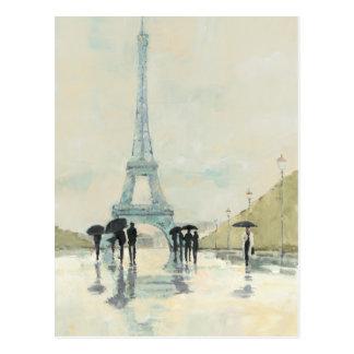 Cartão Postal Torre Eiffel | Paris na chuva