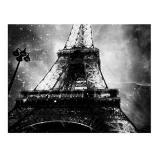 Cartão Postal Torre Eiffel, preto e branco