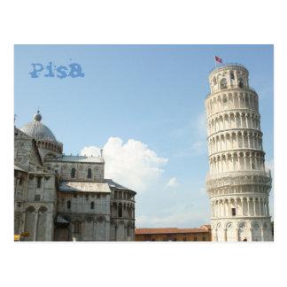Cartão Postal Torre inclinada