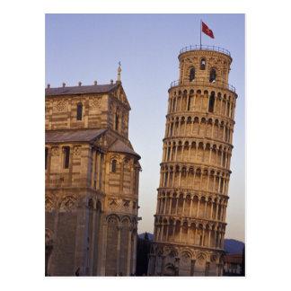 Cartão Postal Torre inclinada de Italia, Toscânia, Pisa de Pisa