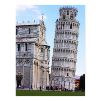 Cartão Postal Torre inclinada de Pisa