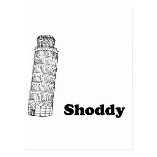 Cartão Postal Torre inclinada de Pisa - malfeito