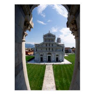Cartão Postal Torre inclinada Pisa, Italia
