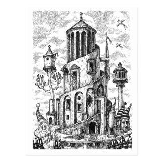 Cartão Postal Torre mágica no chapéu