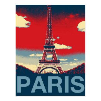 Cartão Postal torre retro de France Paris Effiel do vintage do