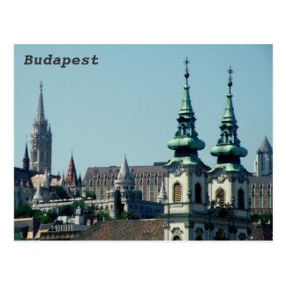 Cartão Postal Torres sobre Budapest