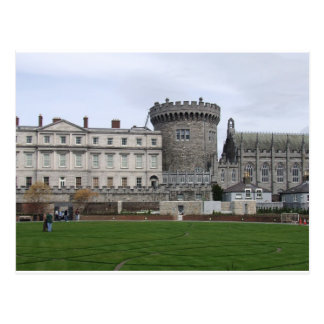 Cartão Postal Torreta do castelo Ireland, do gramado & do
