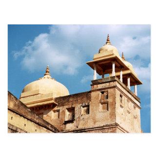 Cartão Postal Torreta no forte de Amer, Jaipur, Rajasthan, India